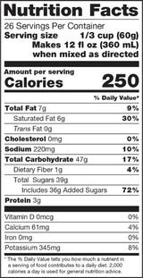Ingredients: Sugar, Coconut Oil, Maltodextrin, Nonfat Milk, Black Tea, Natural Flavors, Sodium Caseinate. Contains Less than 1% of the Following: Salt, Honey Powder (Sugar, Honey), Silicon Dioxide (Anticaking Agent), Guar Gum, Cinnamon, Mono and Diglycerides, Dipotassium Phosphate, Pectin, Cardamom, Clove, Allspice, Soy Lecithin (Emulsifier).
