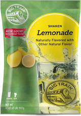 This Big Train Shaken Lemonade Drink Mix taste like homemade lemonade in seconds! Made with the highest-quality natural ingredients for a lemonade mix that's big on homemade flavor without the hassle. A touch of honey and real sugar balance out the tart lemony mix for a sweet drink all will rave about. Kids love it, too! Just add water and serve.