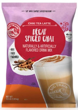 Big Train Decaf Spiced Chai Tea Latte Frappe Mix is made with a blend of milk, honey, and spices making the perfect cup of decaffeinated tea in an instant. All you need is water, ice and a blender. Breathe deep, take a sip, and let our classic Decaf Spiced Chai Tea Latte Mix take your taste buds on an unforgettable adventure! Serve hot, iced, or blended.