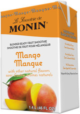 Juicy, Fresh and fruity - the mango is the epitome of tropical fruits. The luscious flavor of this 'apple of the tropics' is cool and refreshing and our Mango Fruit Smoothie mix makes for the tastiest ripe mango blend. Add. Blend. Enjoy Monin Mango Fruit Smoothie Mix is the easiest option for making a delicious frozen drink in minutes. Experience the authentic juicy taste in your smoothies, cocktails, milkshakes and frappes.