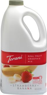 Torani Real Fruit Smoothie Strawberry Banana Six 64 Oz. Jugs