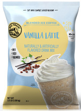 Invigorate your senses and enjoy the sweet vanilla indulgence of Big Train's classic Vanilla Latte Blended Ice Coffee mix, perfect for coffee lovers who like a little bit of sweet and rich vanilla flavor. Our sweet, creamy drink mix refreshes with aromatic, full-bodied Arabica coffee and the exotic yet familiar flavor of Madagascar vanilla bean. Serve hot, iced, or blended.