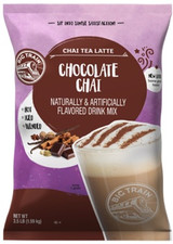 Big Train Chocolate Chai Tea Latte Mix is made with a blend of honey, Dutch chocolate, black tea and exotic spices making the perfect chai tea latte in an instant. Breathe deep, take a sip, and let our Chocolate Chai Tea Latte Mix transport your taste buds to unforgettable adventure! Enjoy our chocolate chai tea latte mix on its own, or add whipped cream for an indulgent finish. Serve it hot, iced, or blended.