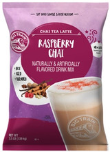 Big Train Raspberry Chai Tea Latte Frappe Mix is made with a blend of raspberry, honey, black tea, and exotic spices making the perfect chai tea latte in an instant. All that is needed to serve is water, ice and a blender! No refrigeration needed. The flavor of Big Train's Raspberry Chai Tea Latte Frappe Mix will surely turn customers into repeat patrons. Serve hot, iced, or blended.