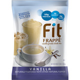 Fit Frappé is an outrageously delicious cafe-style protein drink perfect for your morning routine, your afternoon pick-me-up or an anytime snack. Our rich-tasting Vanilla Fit Frappé Mix combines vital nutrients with a supercharged protein boost to invigorate and satisfy. We've blended Fit Frappé with calcium caseinate, a slow-releasing protein your body can use throughout the day. We've loaded up our Vanilla Fit Frappé with 20 grams of protein, and it contains only 130 calories and less than 1 gram of sugar. Any way you mix it up, Fit Frappé delivers an energizing boost when you need it. Our naturally flavored caffeine-free Fit Frappé Vanilla Protein Drink Mix is packed with vitamins, minerals and protein. It's also gluten-free and contains no added sugars, hydrogenated oils or trans fats to slow you down. Kosher-Dairy certified, and shelf-stable.