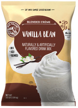 Original vanilla is never plain in Big Train's Vanilla Bean Blended Creme Frappe Mix. Whip up sweet, satisfying indulgence in a flash with this delicious drink mix flecked with real vanilla bean for an authentic texture and flavor. Our rich-tasting vanilla base includes a careful blend of high-quality ingredients for smooth, consistent texture.