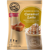 If you like sweet caramel and gourmet coffee drinks, wait till you try Caramel Latte Blended Ice Coffee from Big Train. Combining Arabica coffee with caramel and the finest ingredients, this drink is as easy to make as it is delicious.
