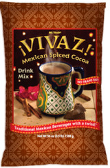 "Big Train's VIVAZ (pronounced vee-vaz) Mexican Spiced Cocoa is a lively blend of cocoa, brown sugar and cinnamon which will transport you back in time. the origins of cocoa date back to the ancient Mayan and Aztec civilizations in Central American who first enjoyed ""chocolatl"" a much-prized spicing drink made form roasted cocoa beans."