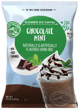 Big Train Chocolate Mint Blended Ice Coffee Frappe Mix is one of the easiest ways to craft a caffeinated ice coffee drink that has a minty chocolaty taste. All that's needed is water, ice and a blender! This Big Train beverage mix is a blend of the finest ingredients and a signature creamy base. It's the perfect afternoon pick-me-up.