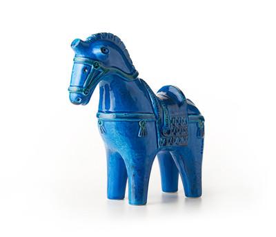 """Bitossi 13"""" Horse-Rimini Blu"""