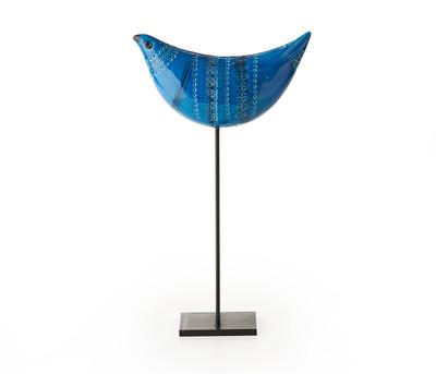 "Bitossi 14"" Proud Bird-Rimini Blu"