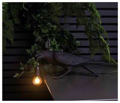 Playing Bird Table Lamp