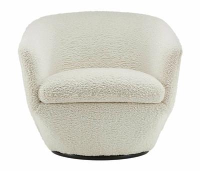 Gatano Swivel Chair in Shearling