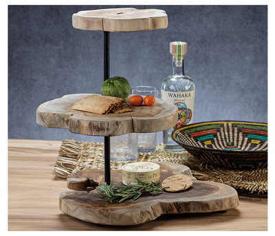 Root 3-Tiered Serving Tray