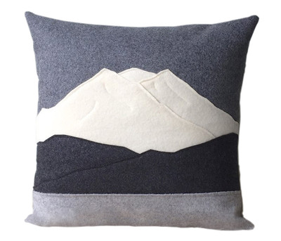 Mt Rainier Square Pillow