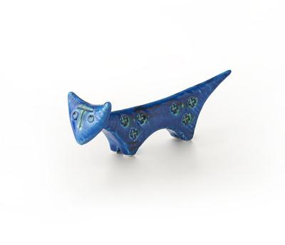 """Bitossi 9.5"""" Triangular Cat-Rimini Blu"""