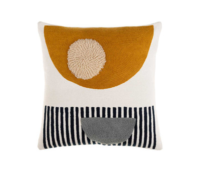 Collage Pillow-Mustard