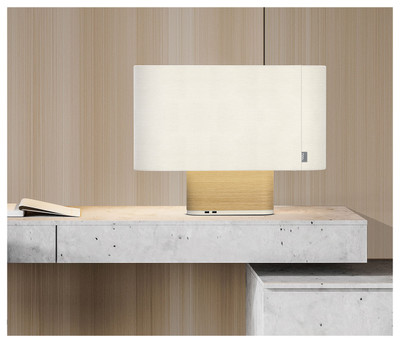 Pablo Designs Belmont Table Lamp White & Oak