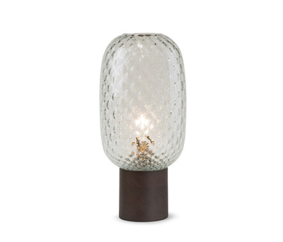 Ampio Table Lamp-Clear Tufted