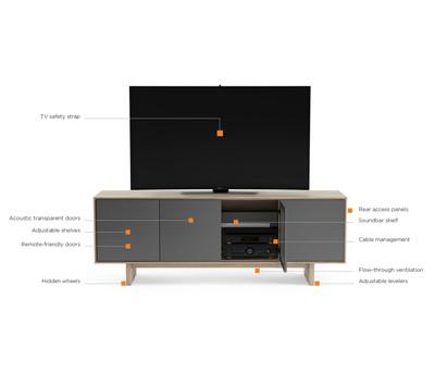 BDI Octave 4-Door Media Cabinet 8379