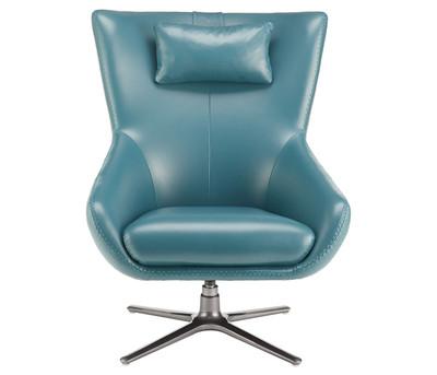 Alano Leather Swivel Chair