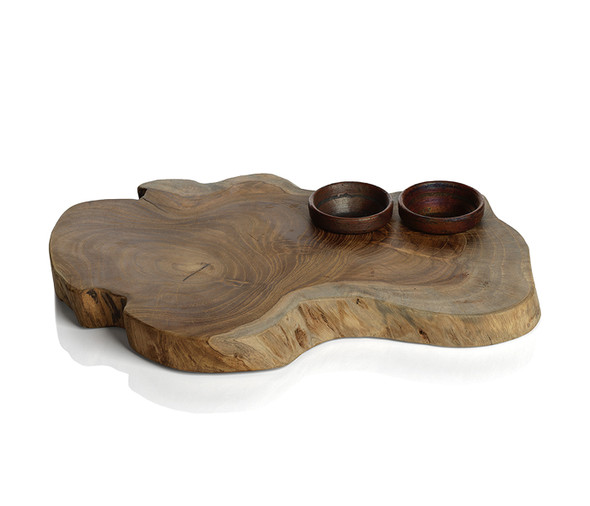 Root Serving Board with Bowls