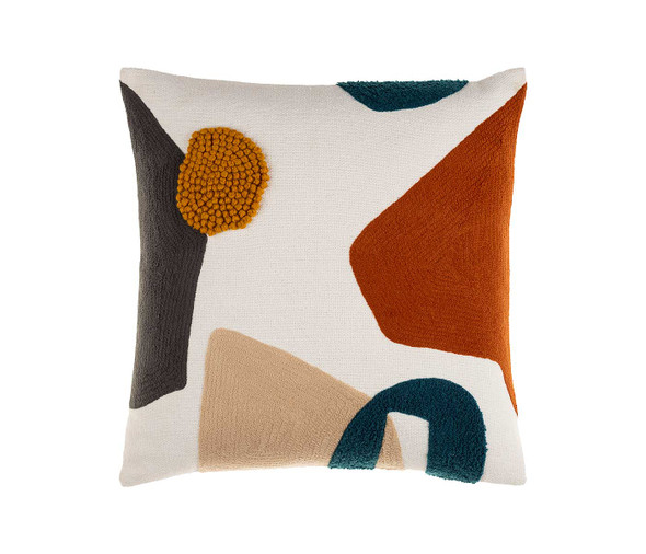 Collage Pillow-Rust
