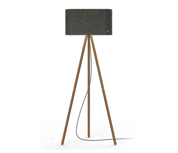 Pablo Designs Belmont Floor Lamp Charcoal & Walnut