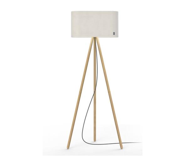Pablo Designs Belmont Floor Lamp White & Oak