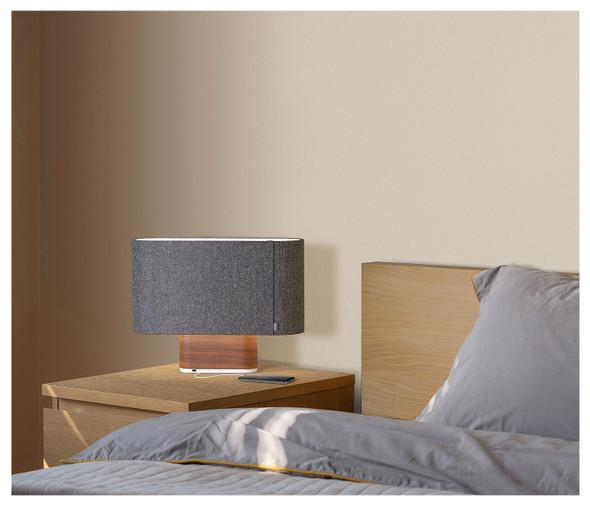 Pablo Designs Belmont Table Lamp Charcoal & Walnut