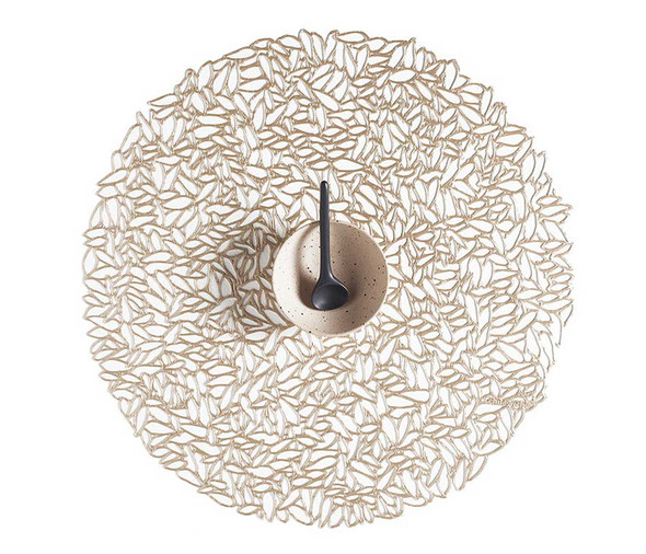 Chilewich Placemat-Petal Round-Champagne