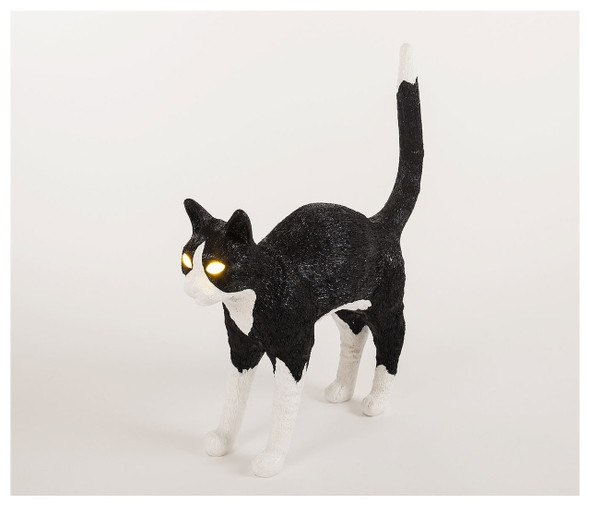Jobby the Cat Lamp Black & White