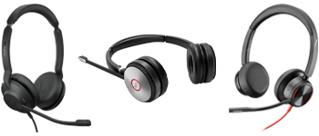 Poly Blackwire 8225, Yealink WH62 and Jabra Evolve2 30