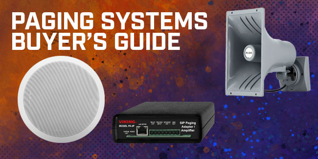 Paging Systems Buyer's Guide