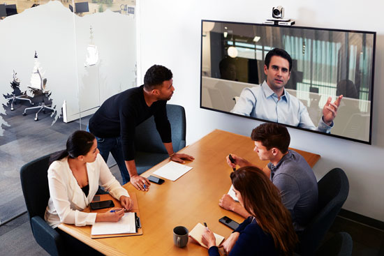 Poly Video Conferencing in Huddle Room
