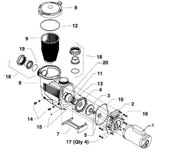 JANDY   MOTOR MOUNTING HARDWARE (SET OF 4)   R0339400