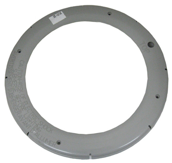 PENTAIR   FACE RING, LARGE PLASTIC, SNAP-ON, GRAY   79212165