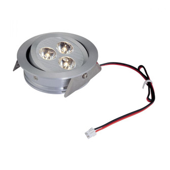 Tiro 3-Light Directional Downlight in Brushed Aluminum with Clear Acrylic Diffuser - Integrated LED (91|WLE123C32K-0-98)