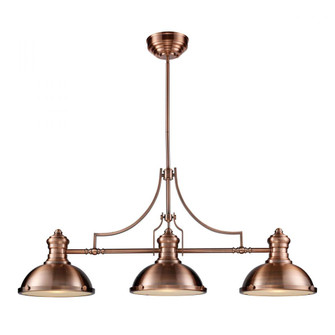 Chadwick 3-Light Island Light in Antique Copper with Matching Shade (91|66145-3)