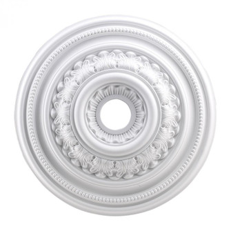 English Study Medallion 24 Inch in White Finish (91 M1012WH)