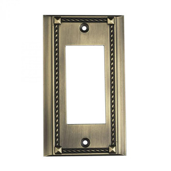 Clickplates Single Plate In Antique Brass (91|2502AB)
