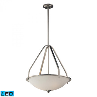Mayfield 3 Light Pendant in Brushed Nickel - LED, 800 Lumens (2400 Lumens Total) with Full Scale Dim (91|17144/3-LED)