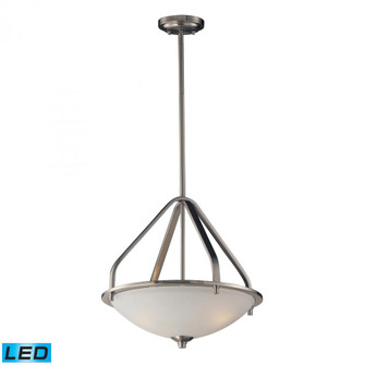 Mayfield 3 Light Pendant in Brushed Nickel - LED, 800 Lumens (2400 Lumens Total) with Full Scale Dim (91|17143/3-LED)