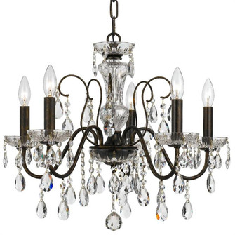 Butler 5 Light Clear Crystal English Bronze Chandelier (205|3025-EB-CL-SAQ)