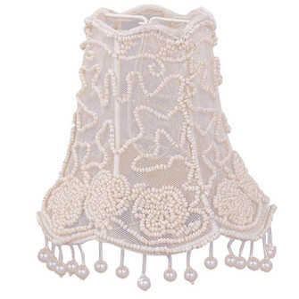 Crystorama 5'' Pearl Beaded Shade w/ Dangling Pearls (205|2SH)