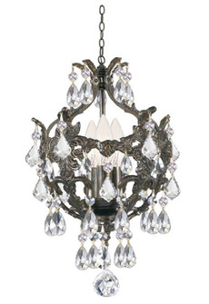 Legacy 3 Light Clear Crystal Bronze Mini Chandelier (205 5193-EB-CL-MWP)
