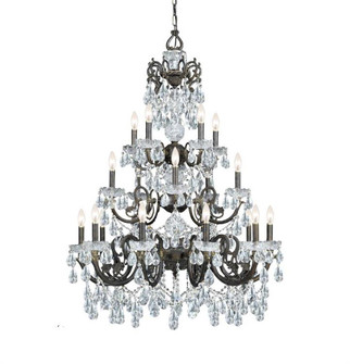 Legacy 20 Light Clear Crystal Bronze Chandelier (205|5190-EB-CL-MWP)