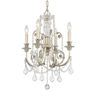Regis 4 Light Clear Crystal Silver Mini Chandelier (5114-OS-CL-MWP)