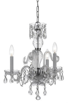 Traditional Crystal 3 Light Clear Swarovski Strass Crystal Chrome Mini Chandelier (5044-CH-CL-S)