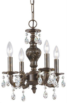 Paris Market 4 Light Clear Crystal Bronze Mini Chandelier (5024-VB-CL-MWP)